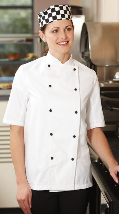 Budget lightweight Chefs Jacket short sleeve