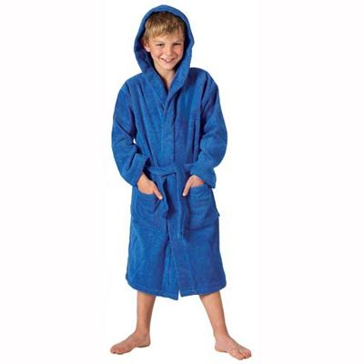 CHILDRENS HOODED TOWELLING ROBE